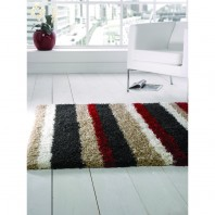 Flair Rugs Nordic Channel Black/Red
