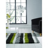 Flair Rugs Nordic Channel Lime green/grey