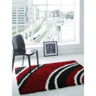 Flair Rugs Nordic Cresent Black/red