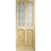 XL Joinery Internal Knotty Pine Victorian with Bluebell Glass