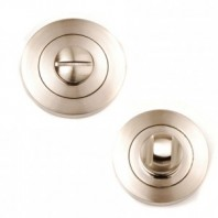 Dale Satin Nickel Bathroom Turn & Release