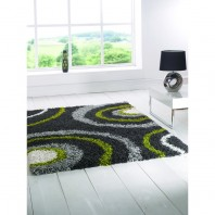 Flair Rugs Nordic Equator Lime green/grey