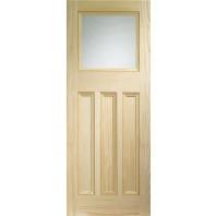 Xl Vine DX Vertical Grain Door With Obscure Glass
